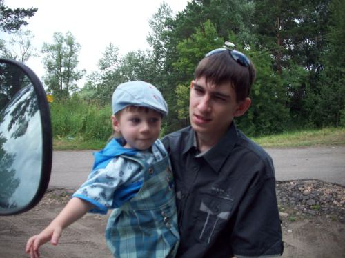 Старший сын с младшим