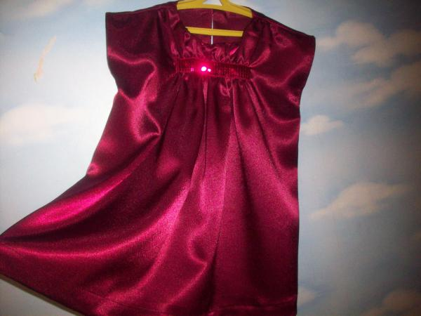 Платье тёмно-вишнёвое