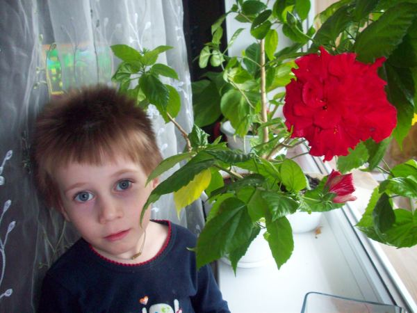 Егор в цветах