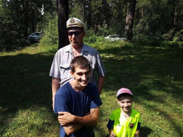 Папа, Егор и Артём 2017