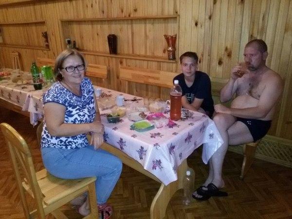 Папа, Данил и Татьяна