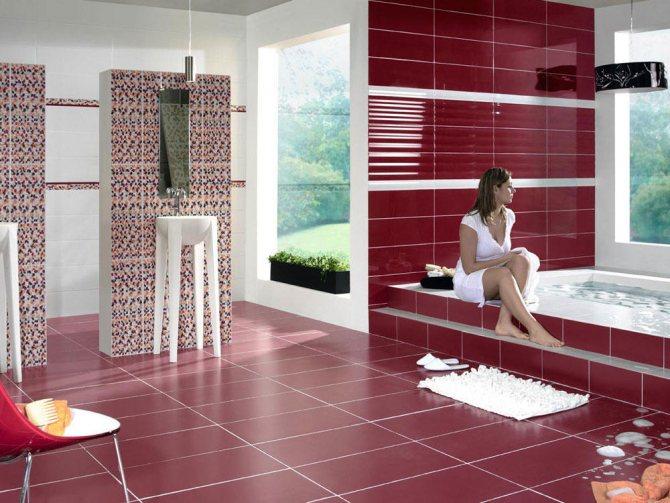 هنگام محاسبه کاشی برای حمام ابتدا باید اتاق انجام شود