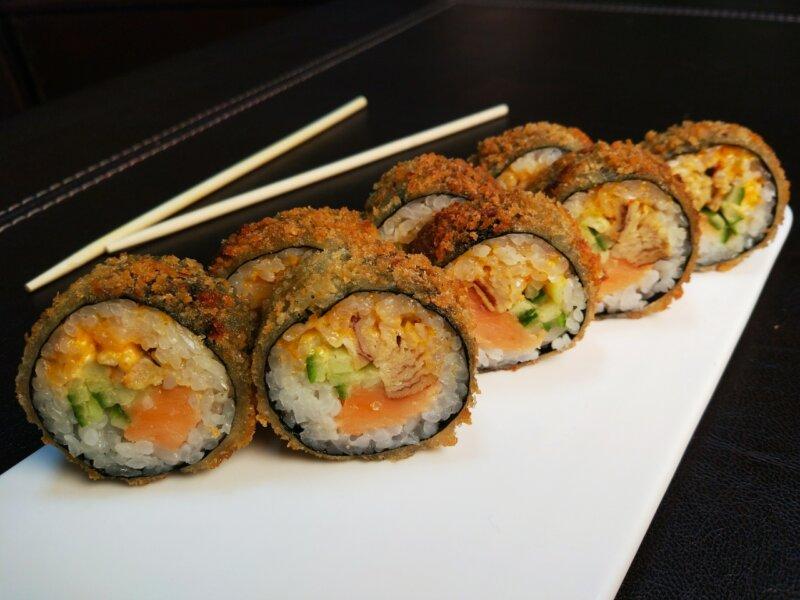 Maks met paling- en komkommerfoto
