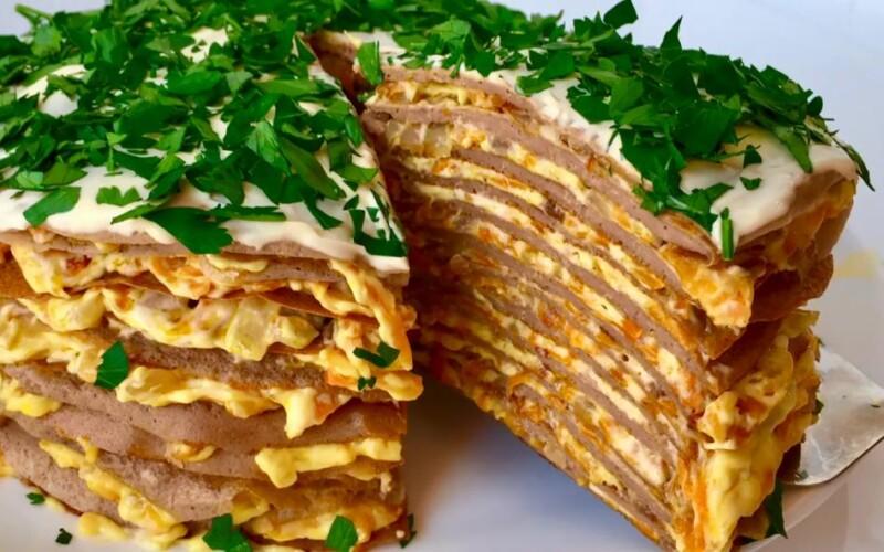 Шошқа етінің бауыр тәрізді торттары Сәбіз қосылған - классикалық фото рецепт