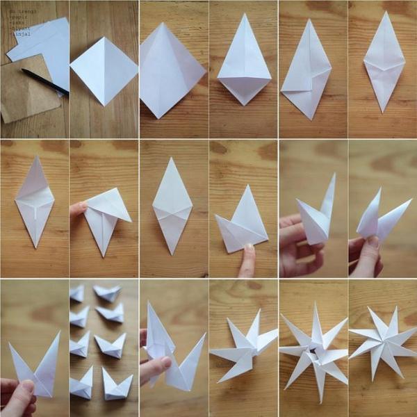 چگونه یک ستاره را در درخت کریسمس با دستان خود بسازید