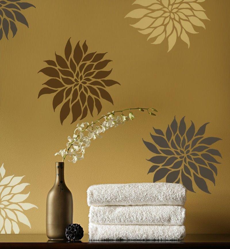 вот фото дизайн стен с трафаретами расцветет вся