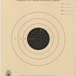 B-2 - 50 Foot Slow Fire Pistol Target Official NRA Target