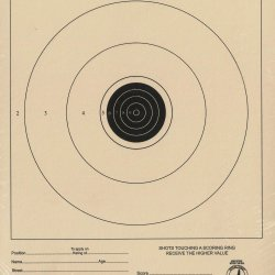 TQ-1/1 - 50 Foot Small Bore Single Official NRA Target