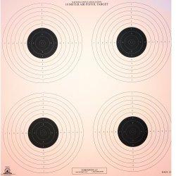 B-40/4-10 Meter (33 Ft.) Air Pistol 4 Bullseye Official NRA Target  (pack of 100)