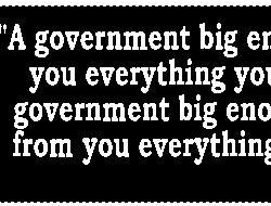 A government big enough to give you everything you want bumper sticker