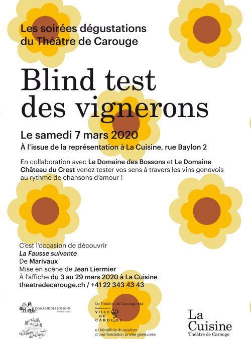Dégustation Théâtre de Carouge 7 mars 2020