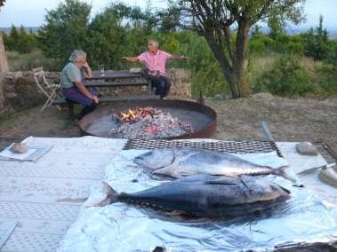Photos - Grillade de poisson du Domaine du Viala
