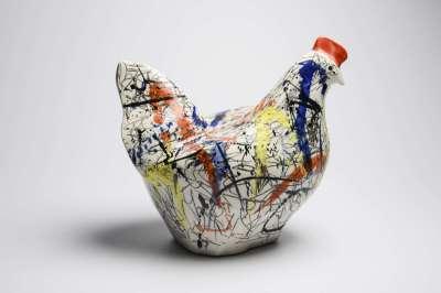 Photos - Céramique motif poule Thalia Reventlow