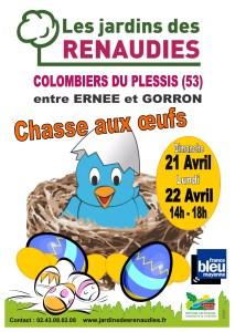 Chasse aux Oeufs aux Jardins des Renaudies - 21.22 Avril 2019