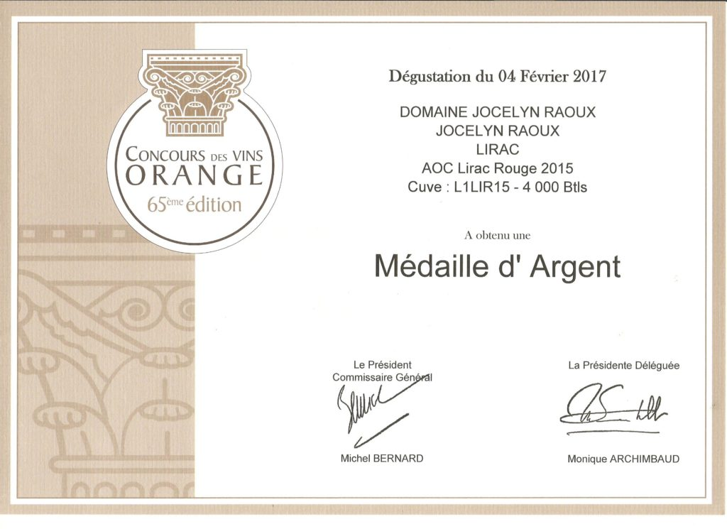 medaille-argent-concours-vin-orange-domaine-jocelyn-raoux