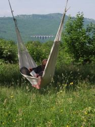Thomas in hammock