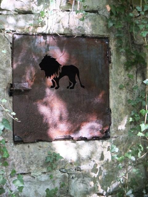 Lion door spring restored