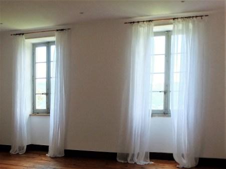 Linen Curtains Yoga Room