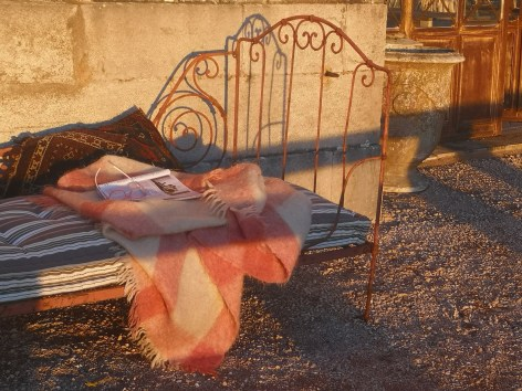 Brocante Bed on Terrace