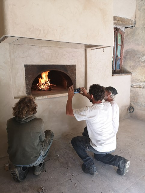 Team Lopes First Fire Oven
