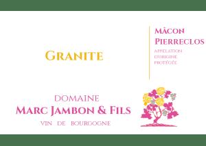 Mâcon-Pierreclos Rosés cuvée GRANITE Domaine Marc JAMBON et Fils