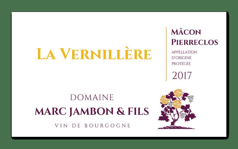 Mâcon-Pierreclos Rouge La Vernillere - Domaine Marc JAMBON et Fils - PIERRECLOS