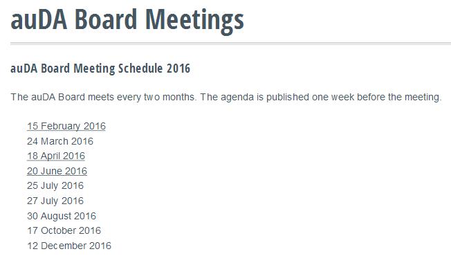 auDA Board Meetings Current