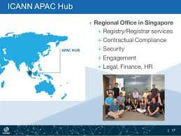 CANN APAC Hub, Regional Office in Singapore, Registry/Registrar services, Contractual Compliance , Security, Engagement, Legal