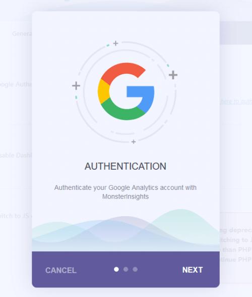 Google Analytics - MonsterInsights - Authentication