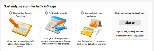 Google Analytics - Sign Up - Steps