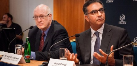 ICANN chair Dr Stephen Crocker and CEO Fadi Chehade