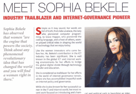 "CIO Names #WOMENINTECH Sophia Bekele, ""Industry Trailblazer and Internet-Governance Pioneer"""