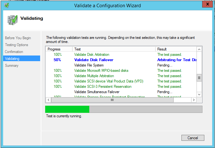 domalab.com install clustered SQL validating