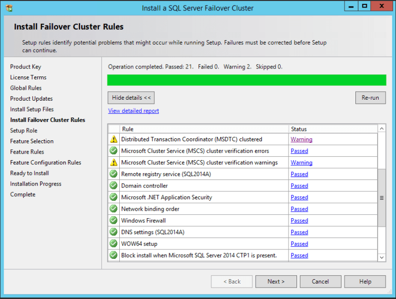 domalab.com SQL first node failover cluster rules
