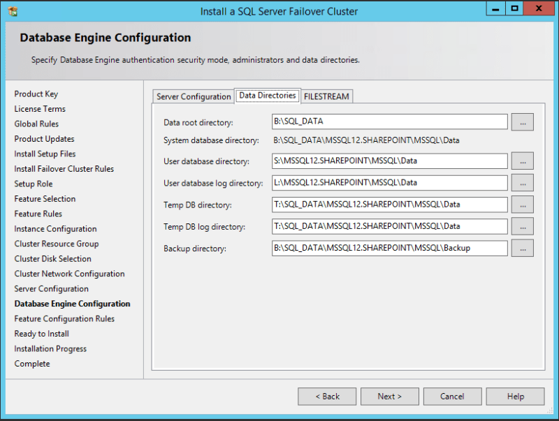 domalab.com SQL first node data directories