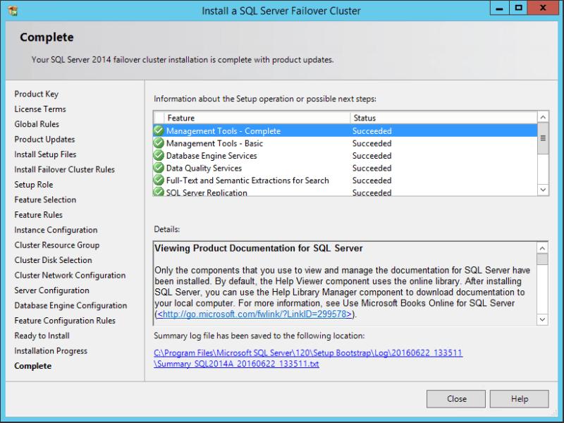 domalab.com SQL first node complete