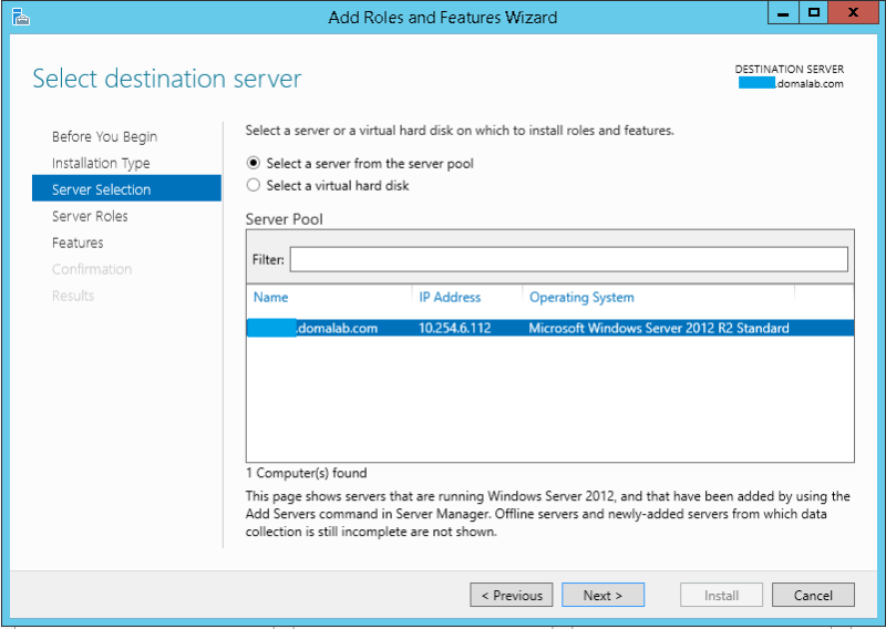 domalab.com Exchange 2016 Backup server selection