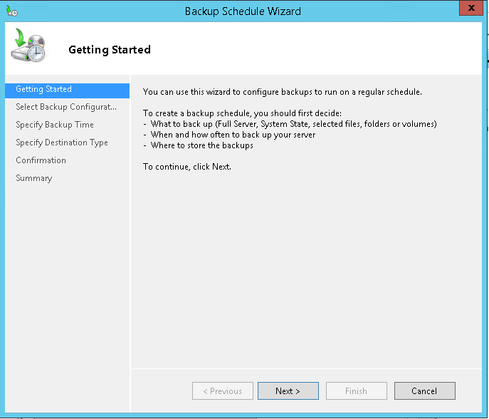 domalab.com Exchange 2016 Backup wbadmin wizard