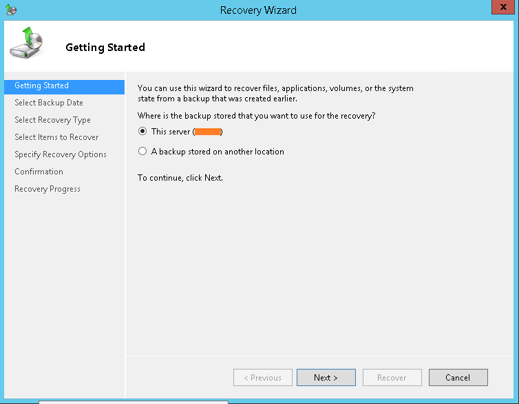 domalab.com Exchange 2016 Mailbox Database Restore recovery wizard
