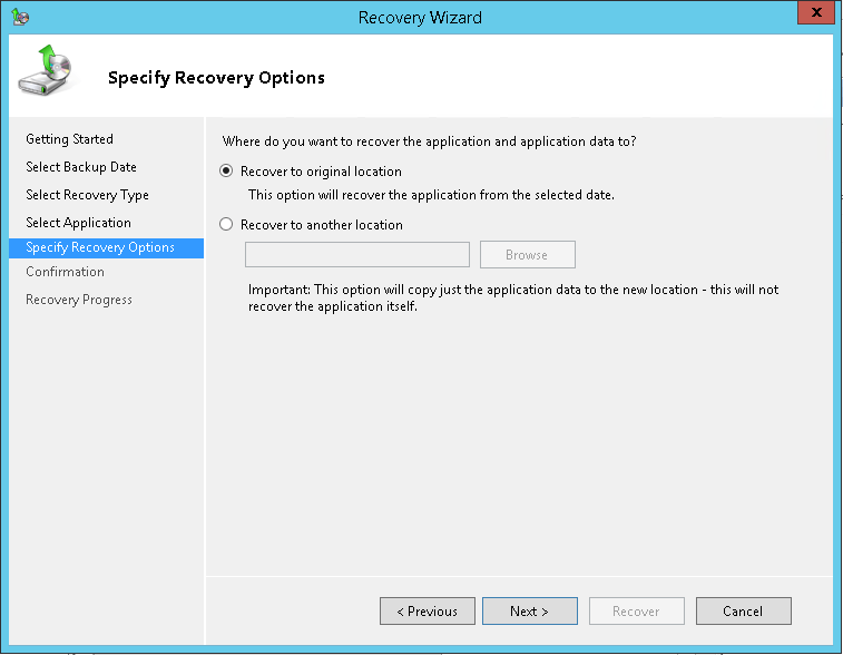 domalab.com Exchange 2016 Mailbox Database Restore recovery options