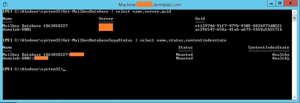 domalab.com Exchange 2016 Mailbox Database Restore