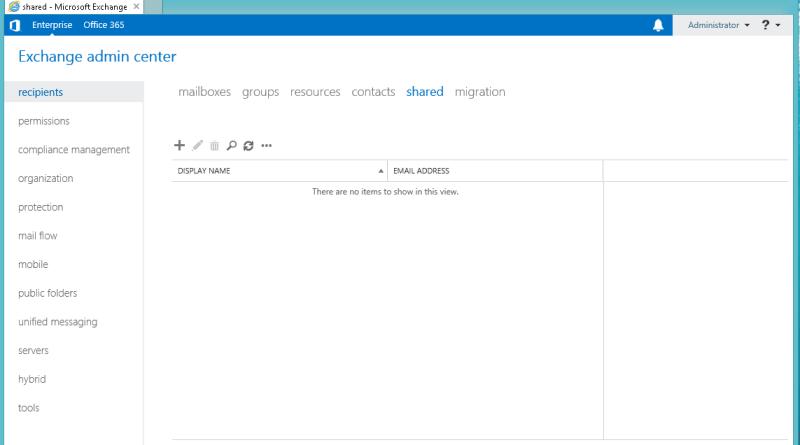 Exchange 2016 Shared Mailbox