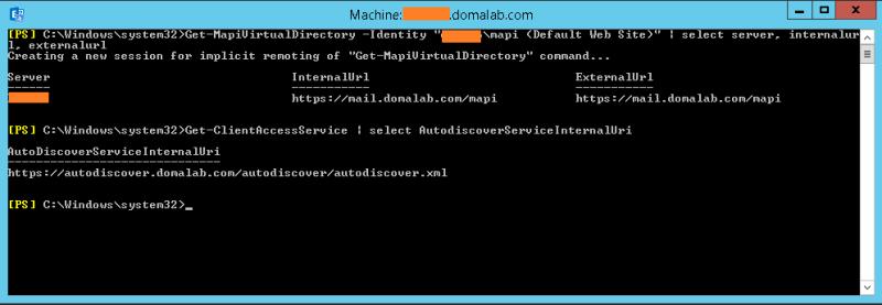 domalab.com Exchange 2016 URL AutoDiscover