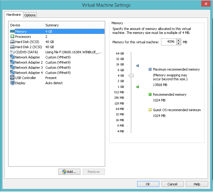 domalab.com Hyper-V nested install virtual machine settings