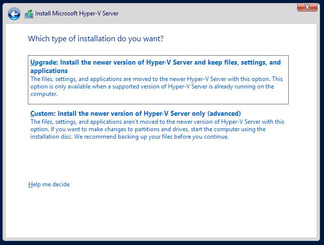 domalab.com Hyper-V nested install type