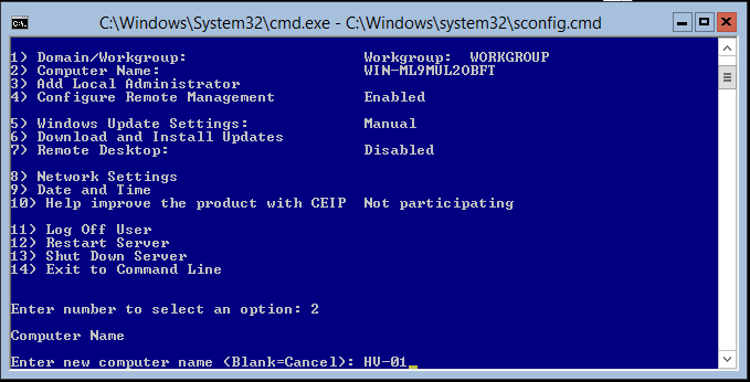 domalab.com Hyper-V nested install hostname