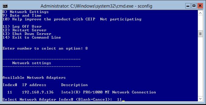 domalab.com Hyper-V nested install select network card