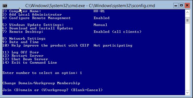 domalab.com Hyper-V nested install join domain
