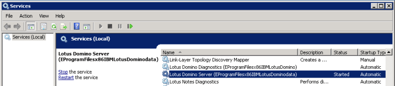 domalab.com install QuickR Domino service start