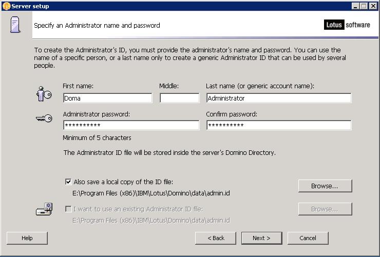 domalab.com configure Domino Administrator